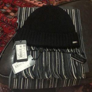 Hugo Boss Fadi Hat and Scarf Set